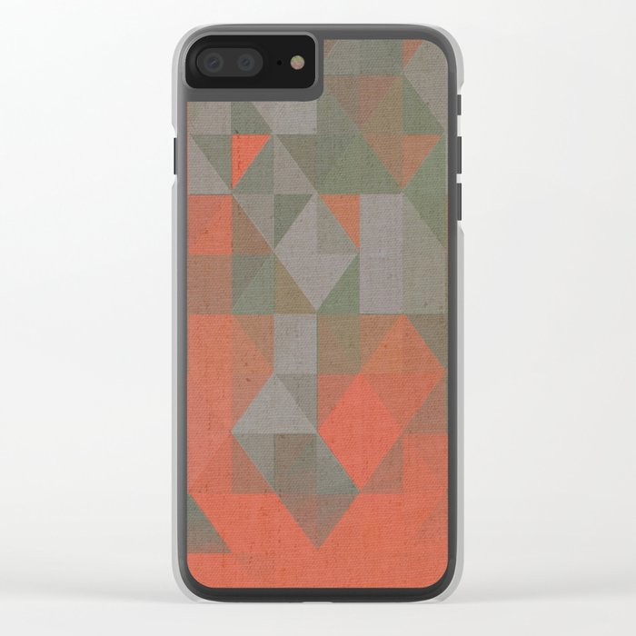 Faceted Vibes Clear iPhone Case