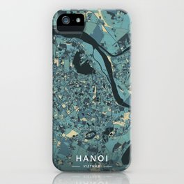 Hanoi, Vietnam - Cream Blue iPhone Case