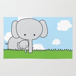 Mommy Elephant Rug