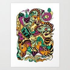 Buffalo - 12 Animal Signs Art Print