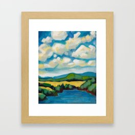 Cooking Lake Landscape by Dennis Weber of ShreddyStudio Framed Art Print