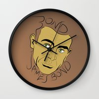 bond Wall Clocks featuring Bond, James Bond by FSDisseny