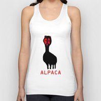alpaca Tank Tops featuring ALPACA by FUNCIT