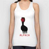 alpaca Tank Tops featuring ALPACA by FUNCIT