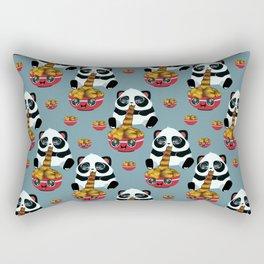 Cute fast food panda Rectangular Pillow