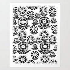 Circular Flower Art Print