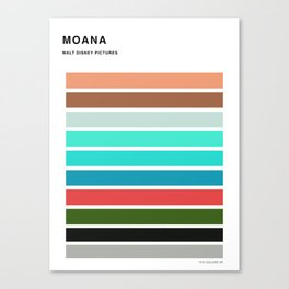 The colors of - Moana Canvas Print