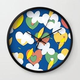 Cloudy Big Heart Wall Clock