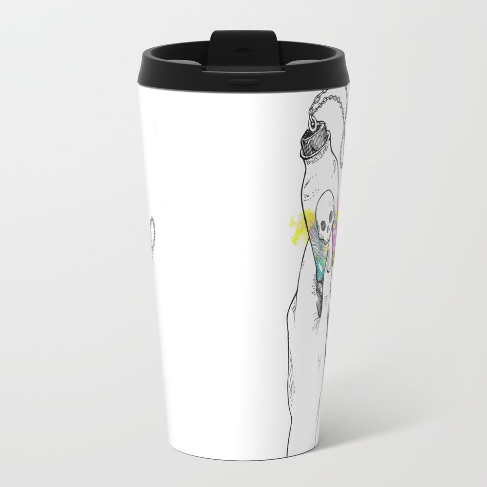The Water Bearer - Aquarius Dark Zodiac Metal Travel Mug by Callhimout MTM8262630