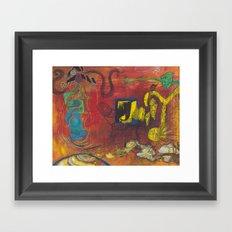 fractal insight from an  ancient mind Framed Art Print