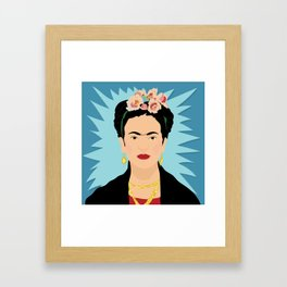 Frida Khalo | Bad Ass Women Series Framed Art Print