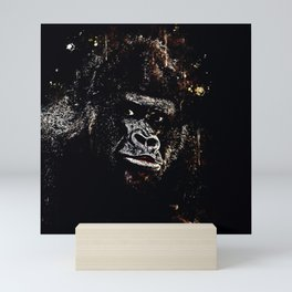 gorilla monkey face expression wsfn Mini Art Print