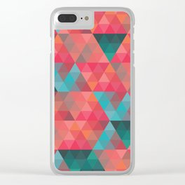 Abstract Geometric Pattern colorful triangles abstract art Clear iPhone Case