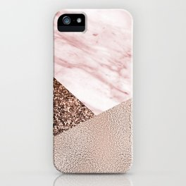 Cotton candy dreams - rose gold iPhone Case