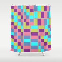 Mid-Century Modern Abstract Pattern #1 Rectilinear Shower Curtain
