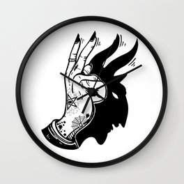 Peace is the Beast Wall Clock