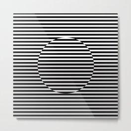 Hypnotic Illusion - Black & White Metal Print