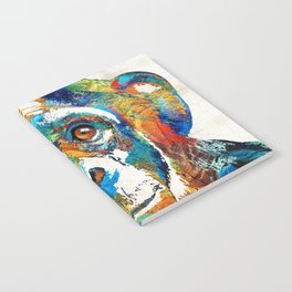 Colorful Chimp Art - Monkey Business - By Sharon Cummings Notebook