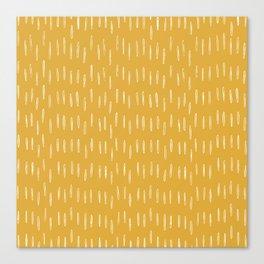Raindrop Abstract Boho Pattern, Yellow Canvas Print