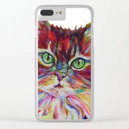 Fat Orange Cat Clear iPhone Case
