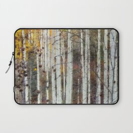 Northern Birch Forest Painting Laptop Sleeve