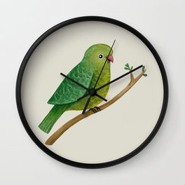 Cute Parrot Wall Clock