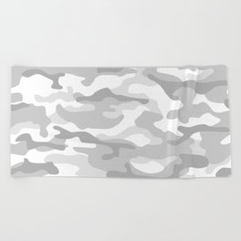 Snow Camo Beach Towel