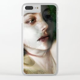 """The moment (portrait)"" Clear iPhone Case"