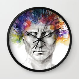 Not an academic portrait Wall Clock