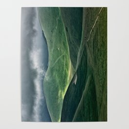 The hills of Castelluccio during a thunderstorm Poster