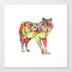 Wolf of Flowers Canvas Print
