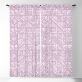 Stamped Geometric - Lilac Blackout Curtain