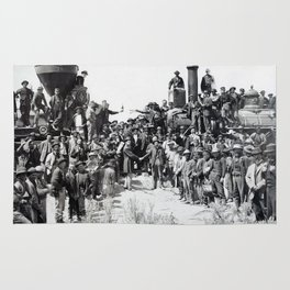 Driving the Golden Spike at Promontory Summit, Utah (May 10, 1869) Rug