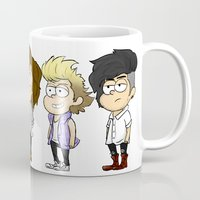 gravity falls Mugs featuring Gravity Falls 1D by Jude