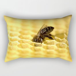 Licking bee Rectangular Pillow