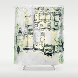 The Brecher Shower Curtain