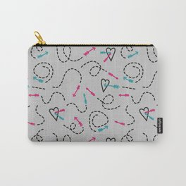platonic love - funny doodle arrow pattern Carry-All Pouch