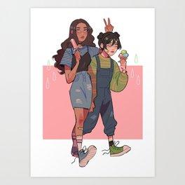katara & toph Art Print