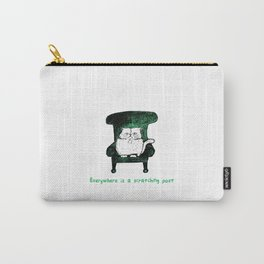 Everywhere is a Scratching Post (Green) Carry-All Pouch