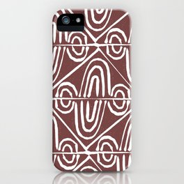 Hand stamped swirls iPhone Case