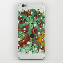 Dark Green Dot iPhone Skin