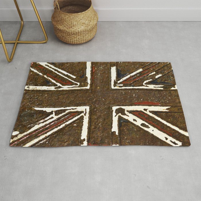 The Rusted Union Jack Rug By Caspartheriddle