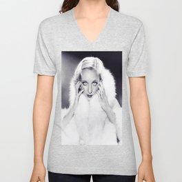 Classic Carole Lombard Unisex V-Neck