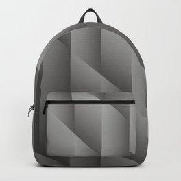 Pantone Pewter Gray Gradient Diamonds, Ombre Geometric Shape Pattern Backpack