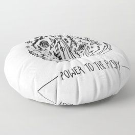 Power to The Pussy Floor Pillow