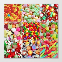 Colorful candy collage Canvas Print