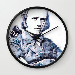 Johannes Brahms (1833 – 1897) in 1853 (3) Wall Clock