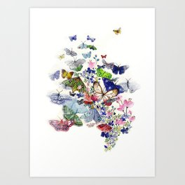 A flow of happiness Art Print