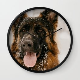 My Adorable Snow Dog Wall Clock