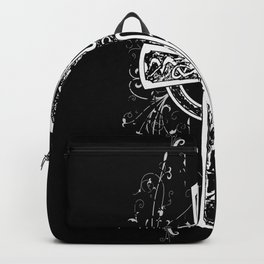 Cool Illustration Gothic Cross Backpack